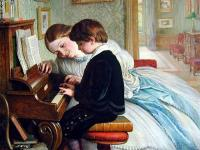 Charles West  Cope The Piano Lesson