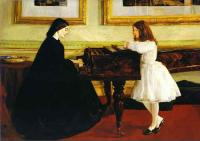 James Abbott McNeill Whistler At the Piano