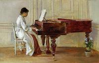 Theodore Robinson At the grand piano
