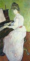 Van Gogh Mademoiselle Gachet at the piano