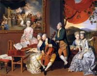 Zoffany The Gore Family with George, 3rd Earl Cowper